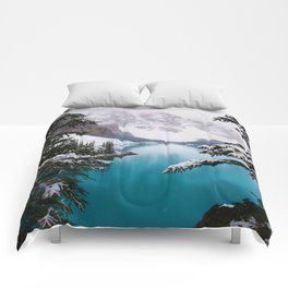 Paradise in the Mountains (Color) Comforters