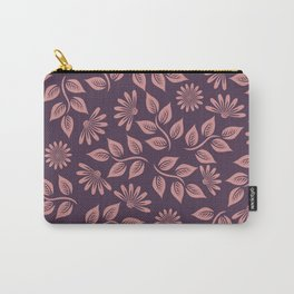 flowers (pink and purple) Carry-All Pouch