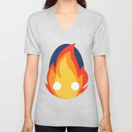 Calcifer Unisex V-Neck