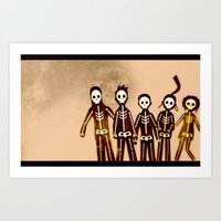 misfits Art Prints featuring Misfits by colleencunha