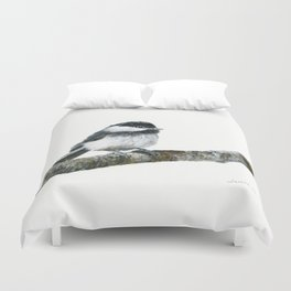 Black-capped Chickadee by Teresa Thompson Duvet Cover