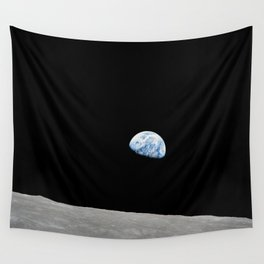 Apollo 8 - Iconic Earthrise Photograph Wall Tapestry