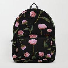Peonies on Black Backpacks