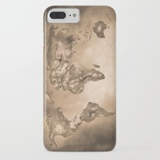 Stars world map. Sepia Slim Case iPhone 7 Plus