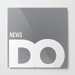 Cropped D.O. News Logo Metal Print