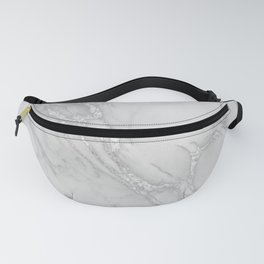 Marble Love Silver Metallic Fanny Pack
