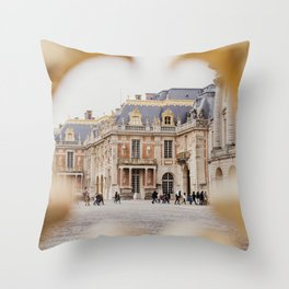 Chateau Versailles with it's amazing doors, photographed trough the gates, Paris | Beautiful French architecture | Travel photography  Fine art print Throw Pillow