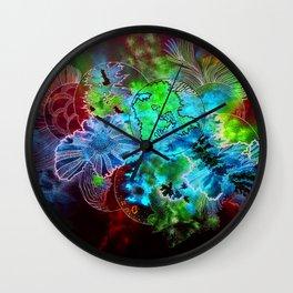 organic blooms Wall Clock