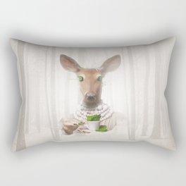 Would you like a cup of tea, my deer ?  Rectangular Pillow