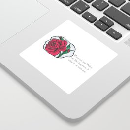 Roses are Red Sticker
