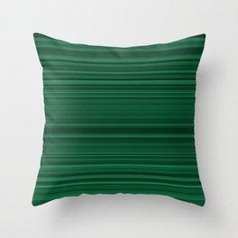 Classic Green Stripes Throw Pillow