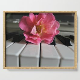 Rose Piano Serving Tray