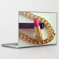 lipstick Laptop & iPad Skins featuring LIPSTICK by I Love Decor