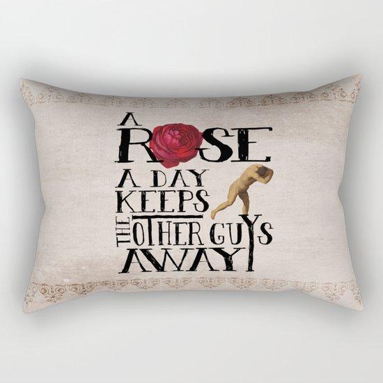 A Rose A Day Rectangular Pillow