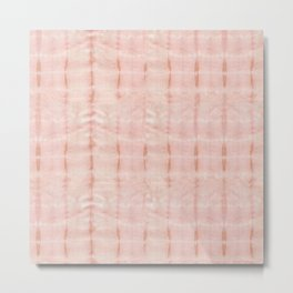 Eco Dye Itajime Pink Metal Print
