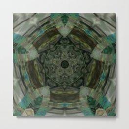 The Green Unsharp Mandala 1 Metal Print