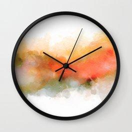 Soft Marigold Pastel Abstract Wall Clock