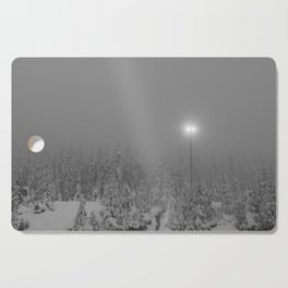 Dark day in the mountains Cutting Board
