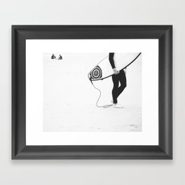 catch a wave V Framed Art Print