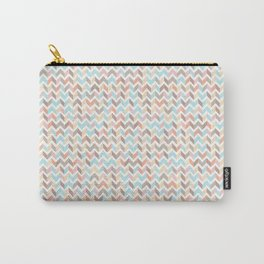 pink chevrons girl neutral photography backdrop Carry-All Pouch