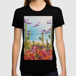 Colorful Desert Landscape, Cactus Landscape, High Desert, Beautiful Desert, Desert scape, Bright T-shirt