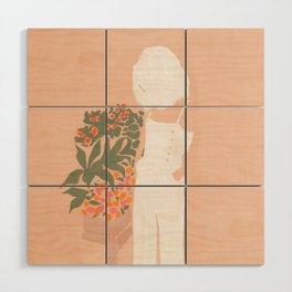 Flower Shoppe Girl Wood Wall Art