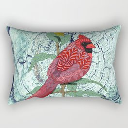 Virginia Cardinal Rectangular Pillow