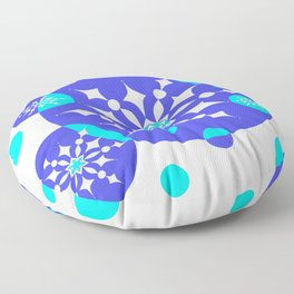 A Delightful Winter Snow Design Floor Pillow