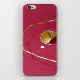 I Scream, You Scream, We All Scream for Crime Scene iPhone Skin
