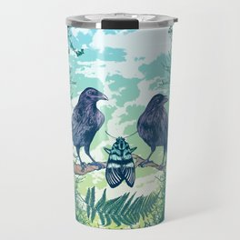 Nature's Skull (Green) Travel Mug