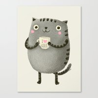 fat Canvas Prints featuring I♥kill (brown) by Lime
