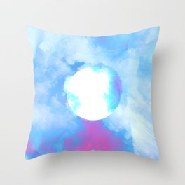 Misplaced Circle Water Throw Pillow