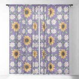 Flower Mandala - Ultra Violet Sheer Curtain