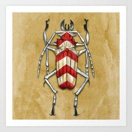 Stripped Psalidognathus Beetle Art Print
