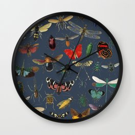 Lovely Butterfly Blue Wall Clock
