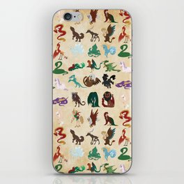 Mythical Creatures Pattern iPhone Skin