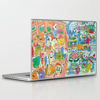 monster inc Laptop & iPad Skins featuring Chez Monster by Clayton (CTON) Hanmer