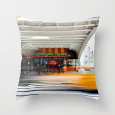 New York Grand Central Cafe Throw Pillow