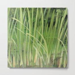 seagrass sea shore watercolor Metal Print