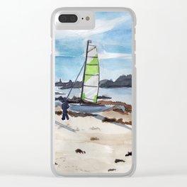 Saint-Maló beach Clear iPhone Case