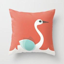 Tundra Swan Throw Pillow