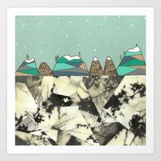 Winter Slopes Art Print