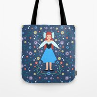 ariel Tote Bags featuring Ariel by Carly Watts