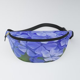 Summer garden blues - macro floral phtography Fanny Pack