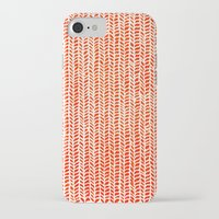 clockwork orange iPhone & iPod Cases featuring Stockinette Orange by Elisa Sandoval