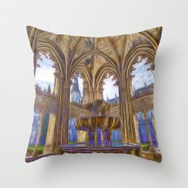 Batalha gothic Throw Pillow