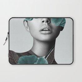 Floral Portrait (woman) Laptop Sleeve