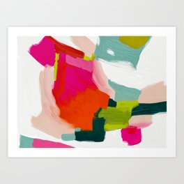 abstract pink art Art Print
