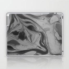 Black and grey marble Laptop & iPad Skin