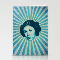 leia Stationery Cards featuring Leia by Durro